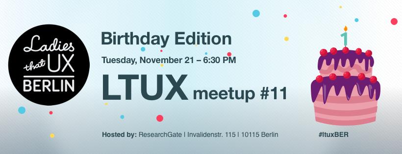 Ladies that UX Berlin Birthday Bash
