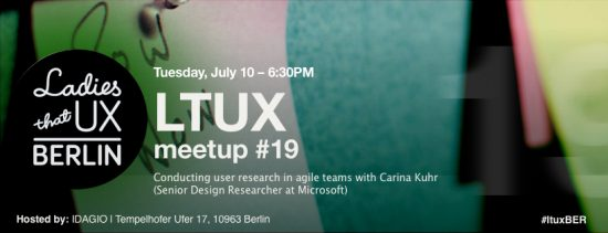 Ladies that UX Berlin meetup #19